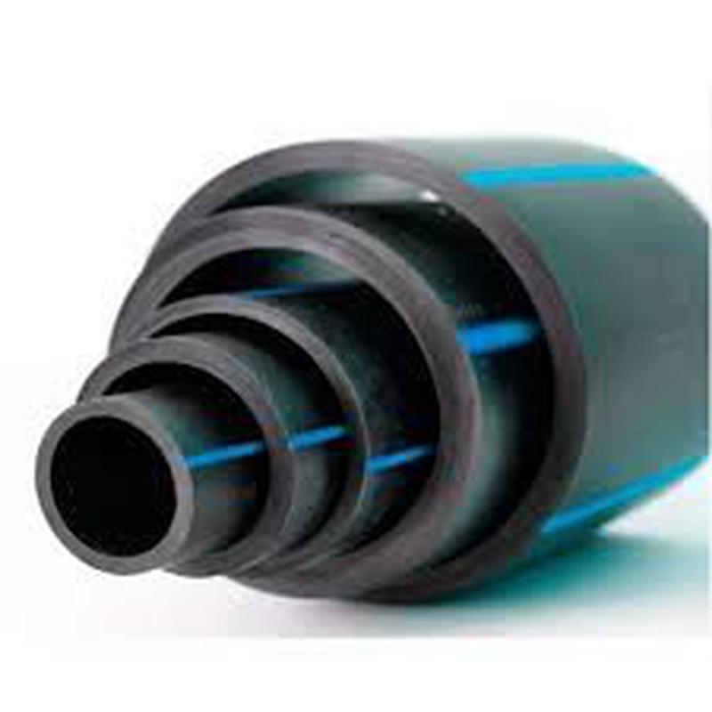 Труба пластиковая с синей полосой. Труба пластиковая вода. тру...