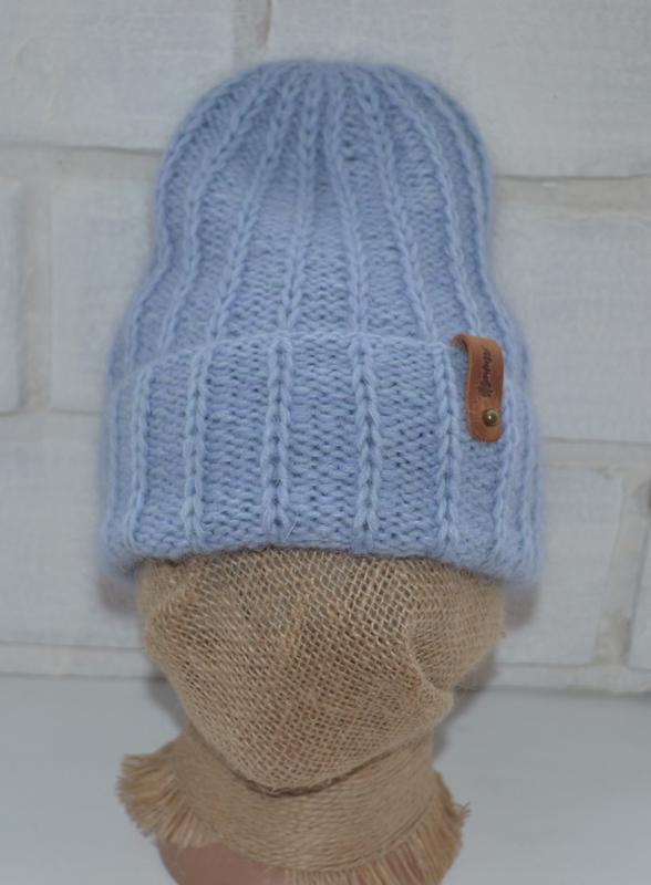 Вязаная шапка и варежки - Фото 3