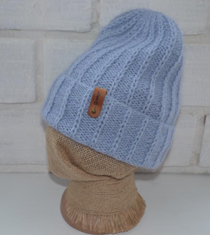 Вязаная шапка и варежки - Фото 5