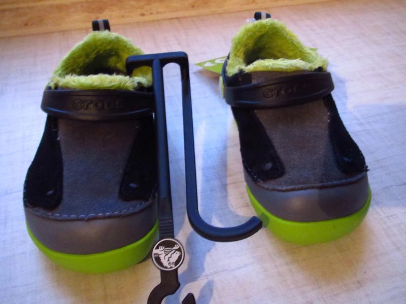 Ботинки с мехом crocs kids dawson slip-on стелька 14см - Фото 2