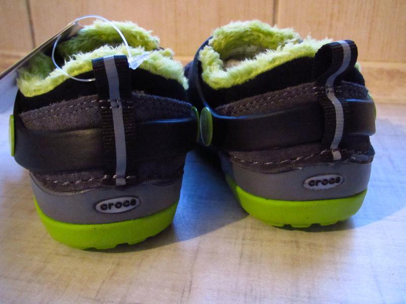 Ботинки с мехом crocs kids dawson slip-on стелька 14см - Фото 3