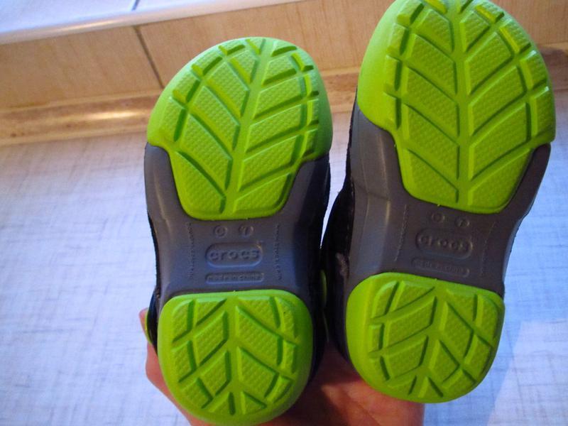 Ботинки с мехом crocs kids dawson slip-on стелька 14см - Фото 4