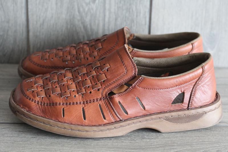 Легкие, кожаные, летние туфли rieker antistress 41 разм