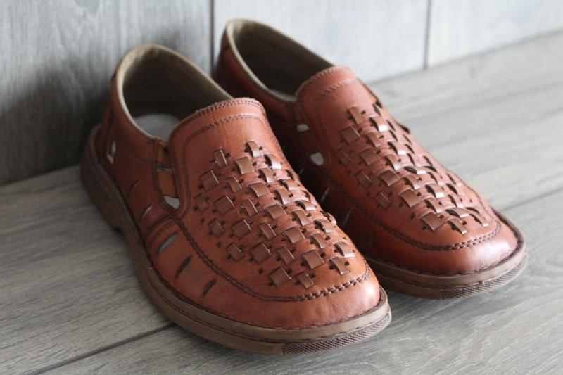 Легкие, кожаные, летние туфли rieker antistress 41 разм - Фото 4