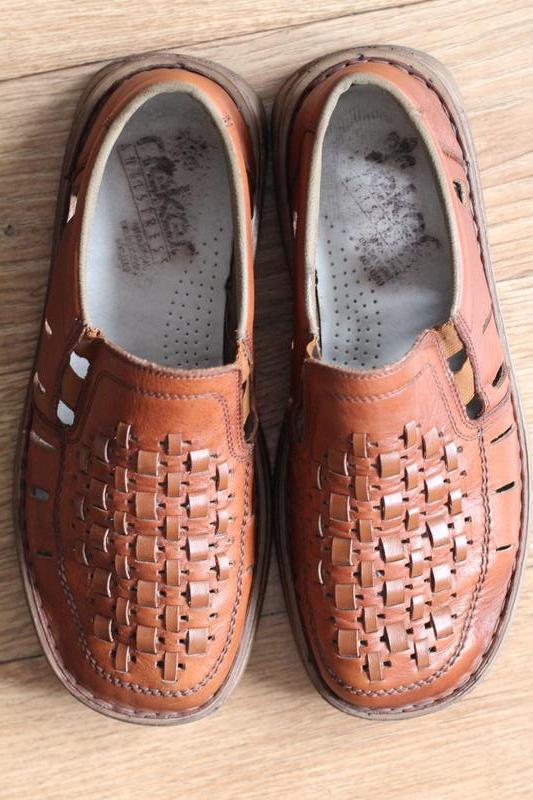 Легкие, кожаные, летние туфли rieker antistress 41 разм - Фото 6