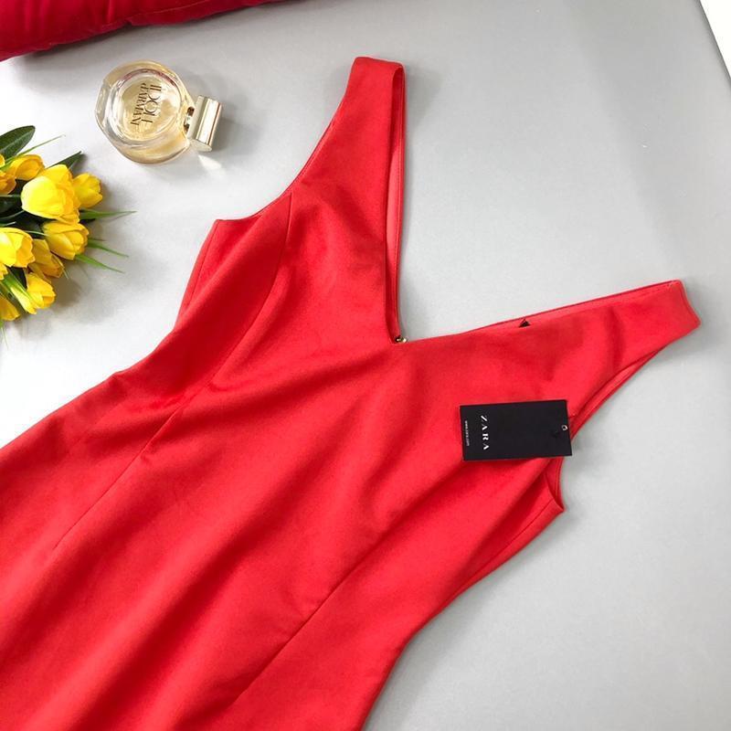 Cтильное платье-футляр на подкладке zara - Фото 2