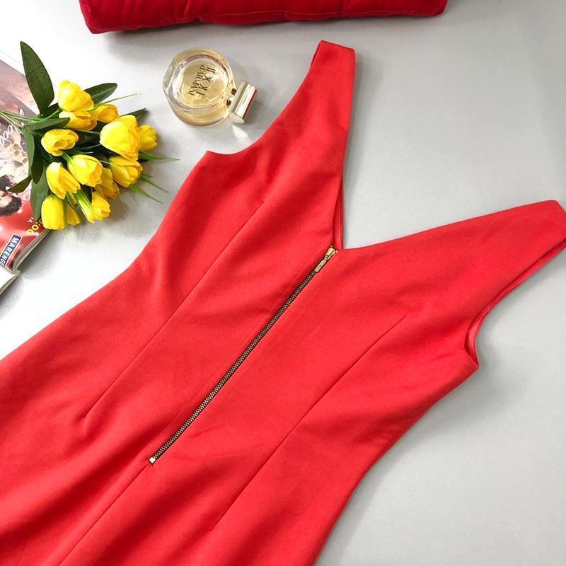 Cтильное платье-футляр на подкладке zara - Фото 3
