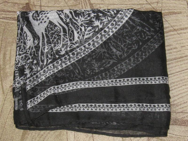 Шарф полупрозрачный натуральная шерсть с ламой