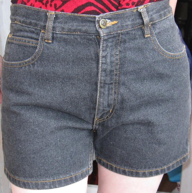 Черные шорты top jeans размер 46, джинс