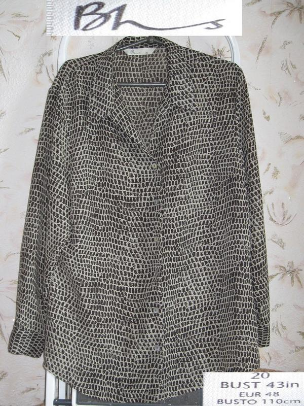 Шикарная блуза от bhs uk 20, bust 110 cm