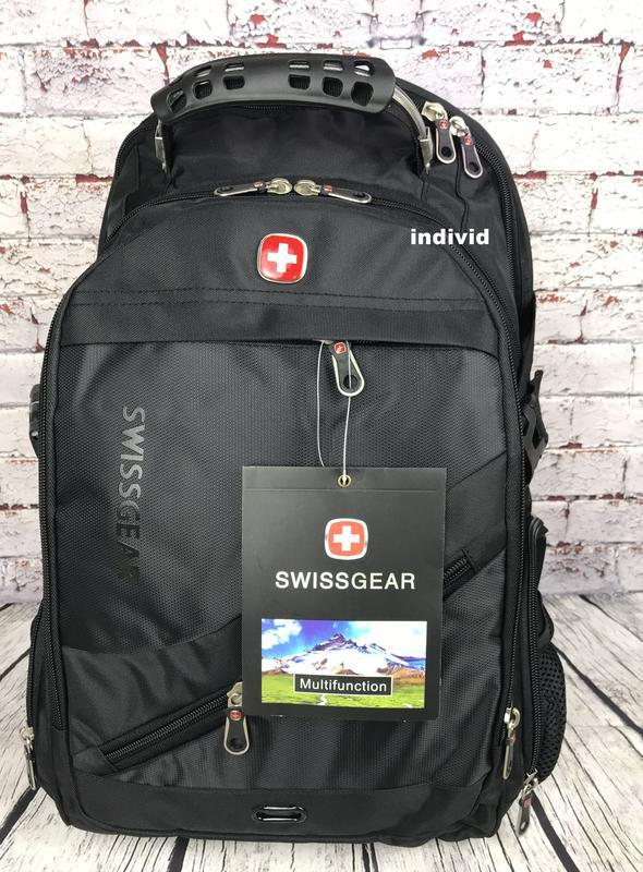 Швейцарский рюкзак с выходом на наушники. рюкзак swissgear. му...
