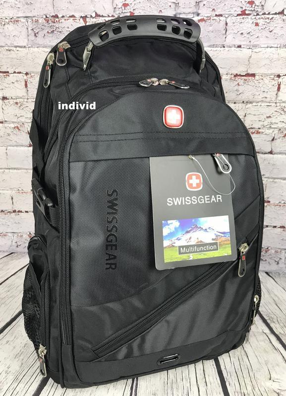 Швейцарский рюкзак с выходом на наушники. рюкзак swissgear. му... - Фото 3
