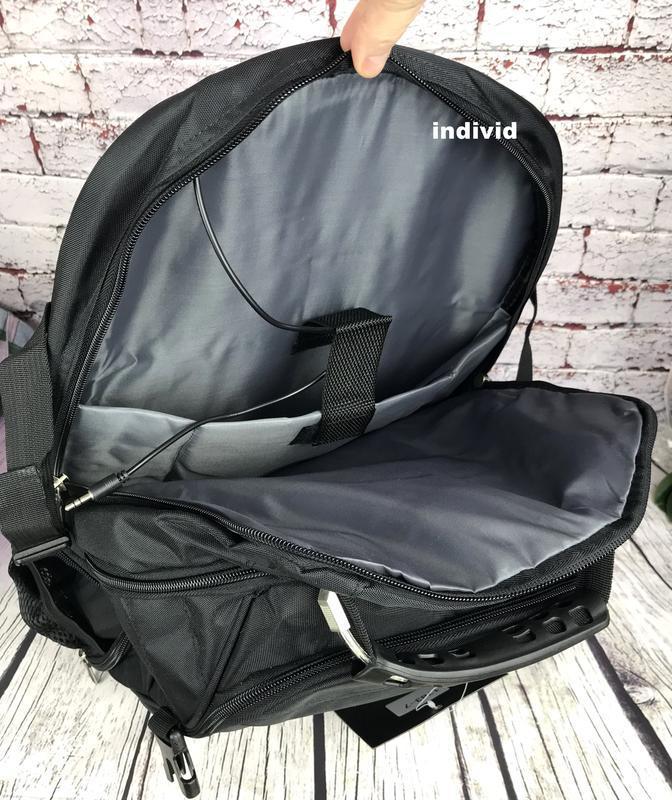 Швейцарский рюкзак с выходом на наушники. рюкзак swissgear. му... - Фото 4