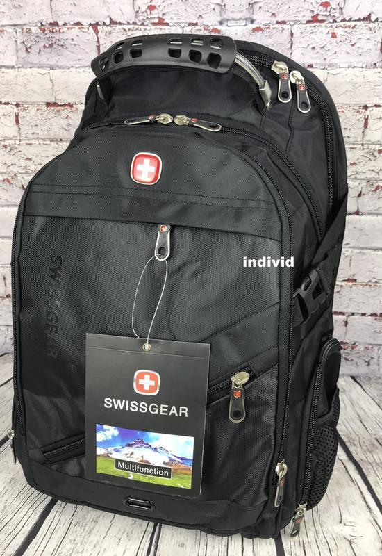 Швейцарский рюкзак с выходом на наушники. рюкзак swissgear. му... - Фото 5
