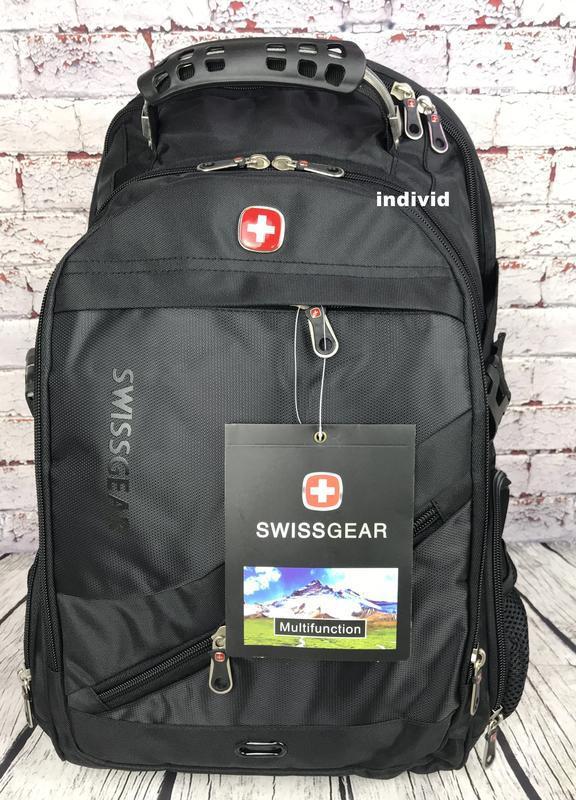 Швейцарский рюкзак с выходом на наушники. рюкзак swissgear. му... - Фото 7