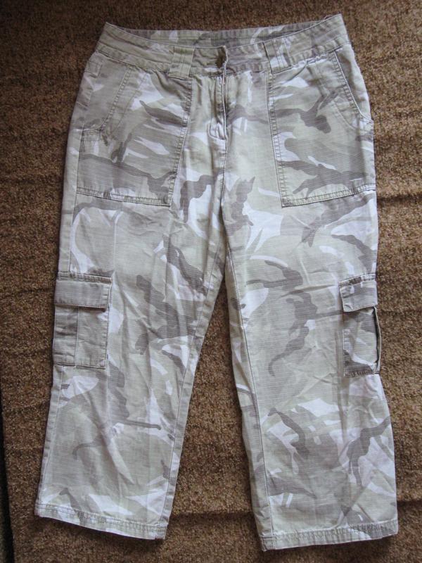 Бриджи dorothy perkins military style, cotton, камуфляж