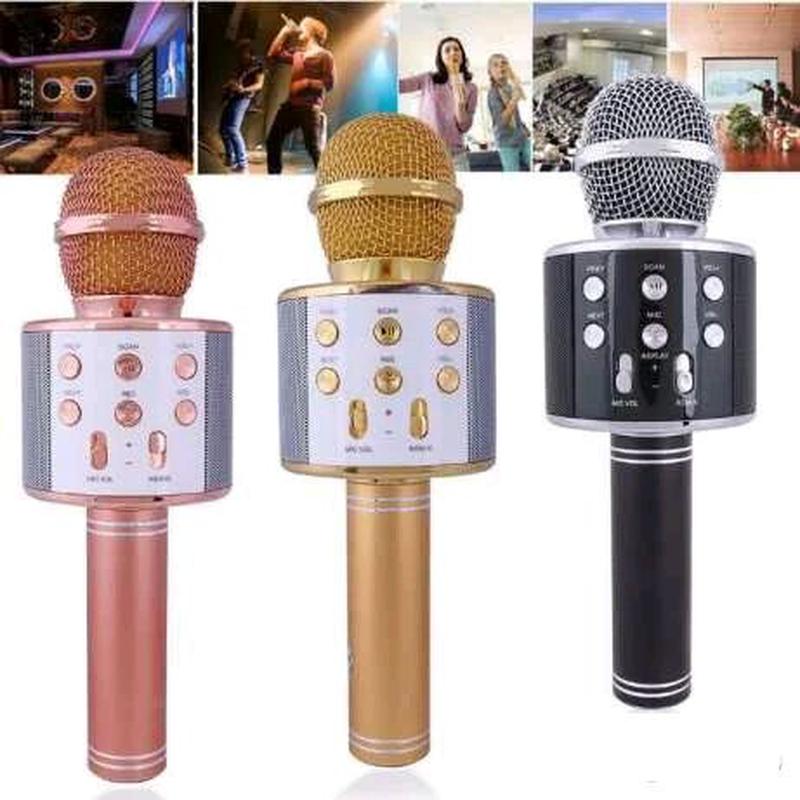 Беспроводной микрофон караоке Bluetooth WS858 - Фото 4