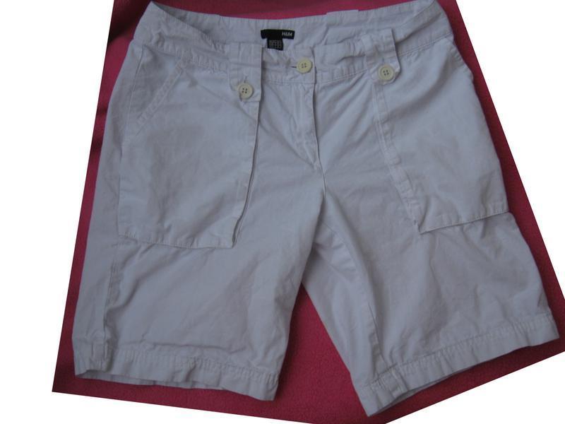 Модные белые шорты от h&m