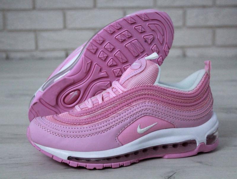 Распродажа🔥удобные спортивные женские кроссовки nike 97 розово...