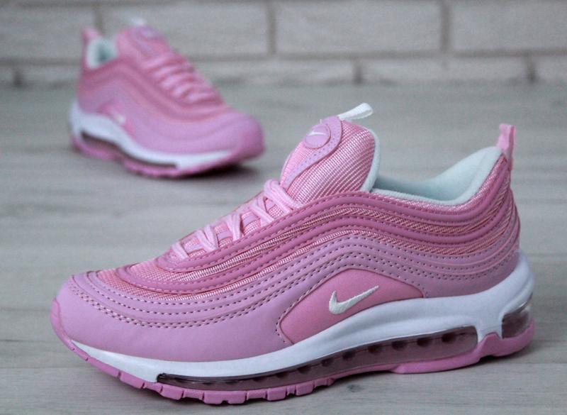 Распродажа🔥удобные спортивные женские кроссовки nike 97 розово... - Фото 3
