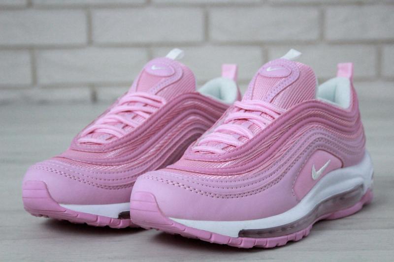 Распродажа🔥удобные спортивные женские кроссовки nike 97 розово... - Фото 4