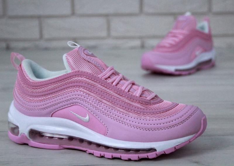 Распродажа🔥удобные спортивные женские кроссовки nike 97 розово... - Фото 5