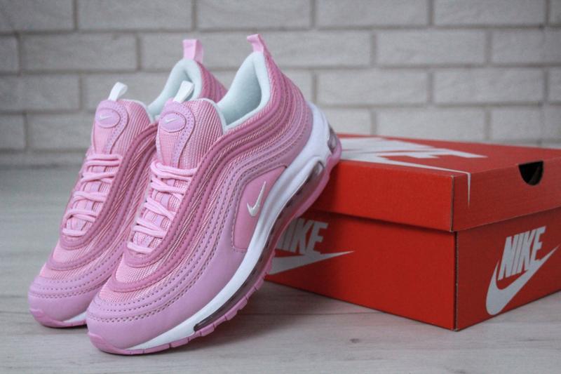 Распродажа🔥удобные спортивные женские кроссовки nike 97 розово... - Фото 8