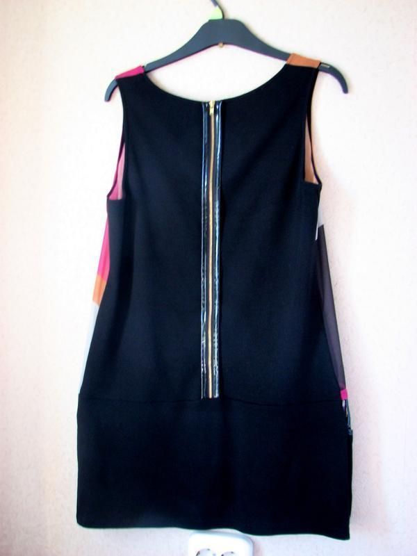 Promod  магическое платье, туника принт девушки 60-х - Фото 4