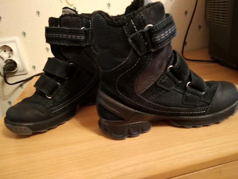 #ecco # зимние #ботинки # р 30 # мальчик # черные# кожа # непр... - Фото 4