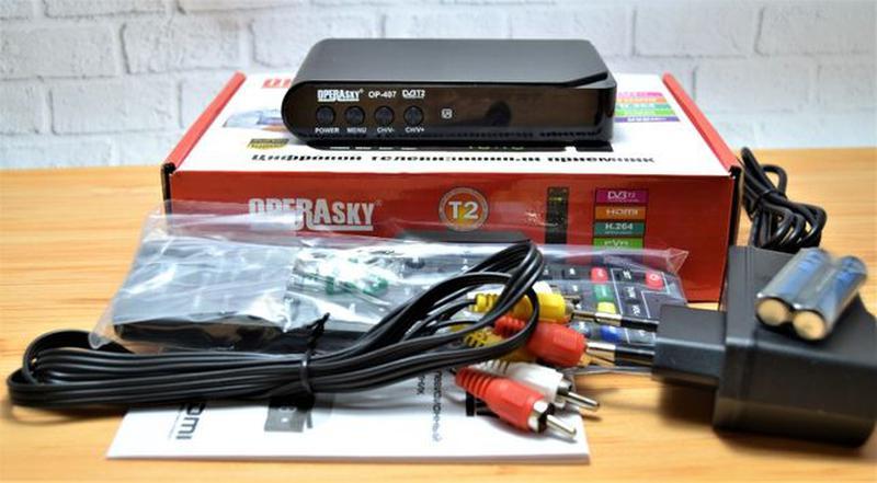 Цифровой эфирный тюнер T2 OPERA SKY OP-407 FullHD+YouTube+Wi-Fi