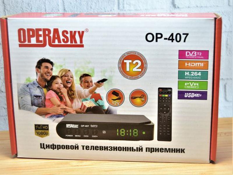 Цифровой эфирный тюнер T2 OPERA SKY OP-407 FullHD+YouTube+Wi-Fi - Фото 2