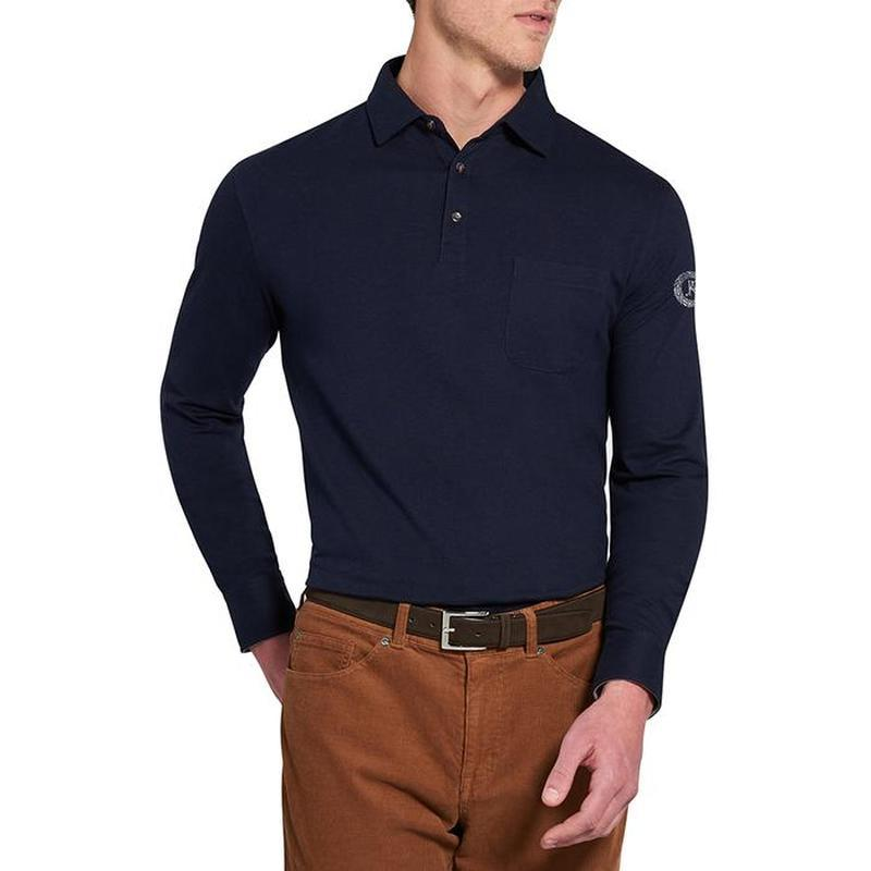 #peter millar # черная рубашка поло