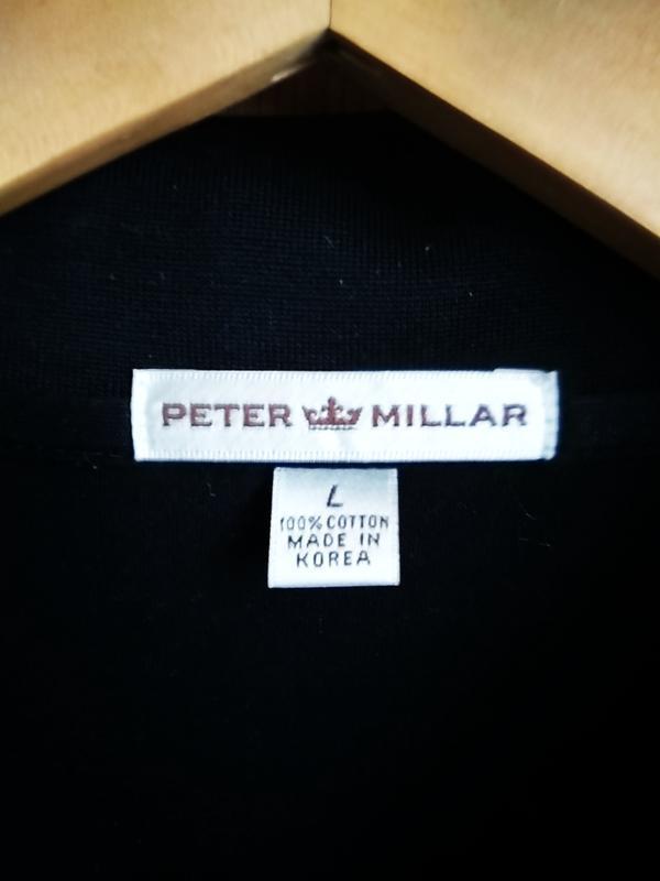 #peter millar # черная рубашка поло - Фото 2
