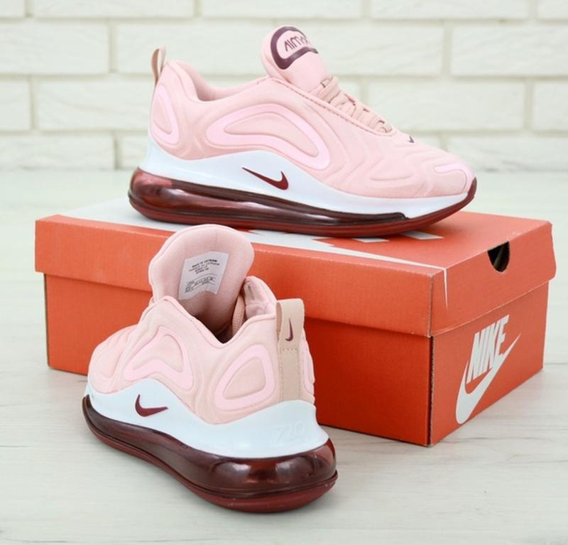 Женские кроссовки найк nike air max 720 pink, розовые демисезо... - Фото 3