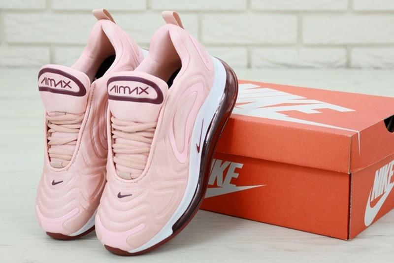Женские кроссовки найк nike air max 720 pink, розовые демисезо... - Фото 4