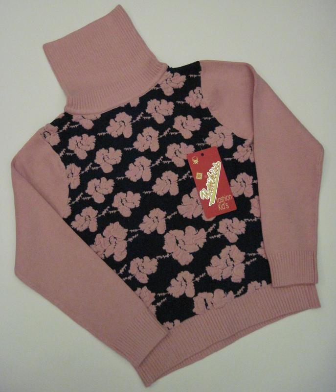 Детский свитер на девочку Yayikiss (120 см - 160 см)
