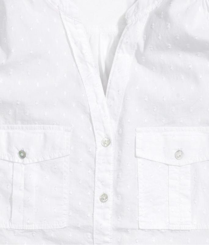 Блуза h&m белая  36 - Фото 2