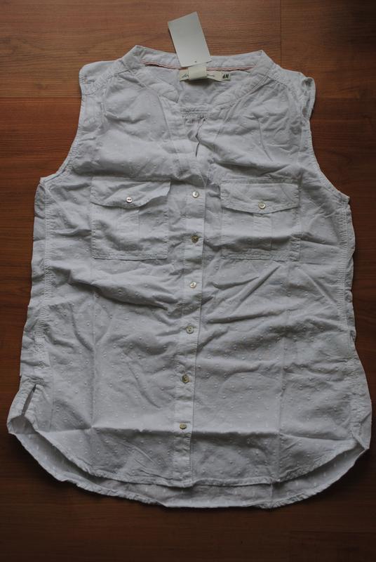 Блуза h&m белая  36 - Фото 4