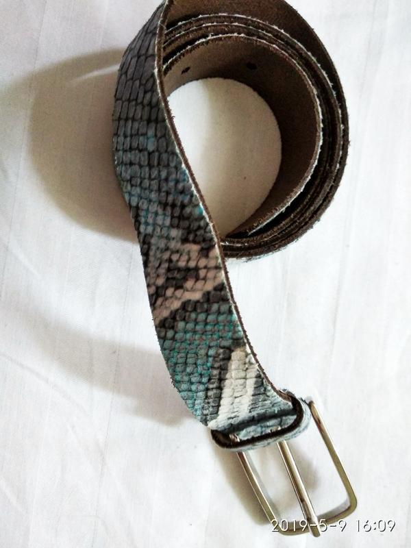 Змеиный  ремень кожа р 100 см