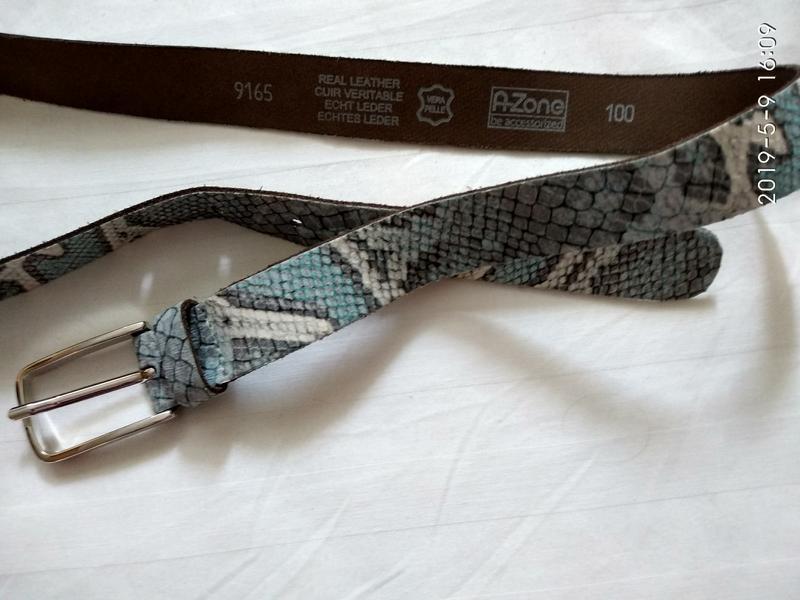 Змеиный  ремень кожа р 100 см - Фото 3