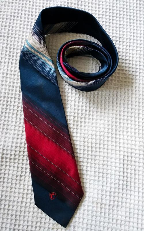Paco rabanne галстук в сине красных тонах