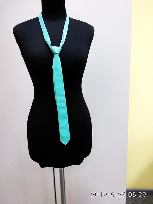 Vera pelle бирюзовый галстук кожа