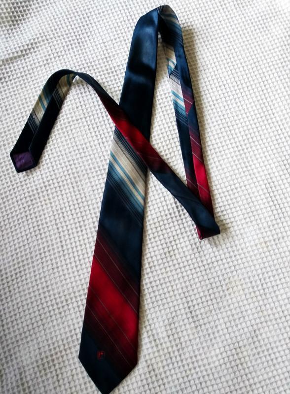 Paco rabanne галстук в сине красных тонах - Фото 2
