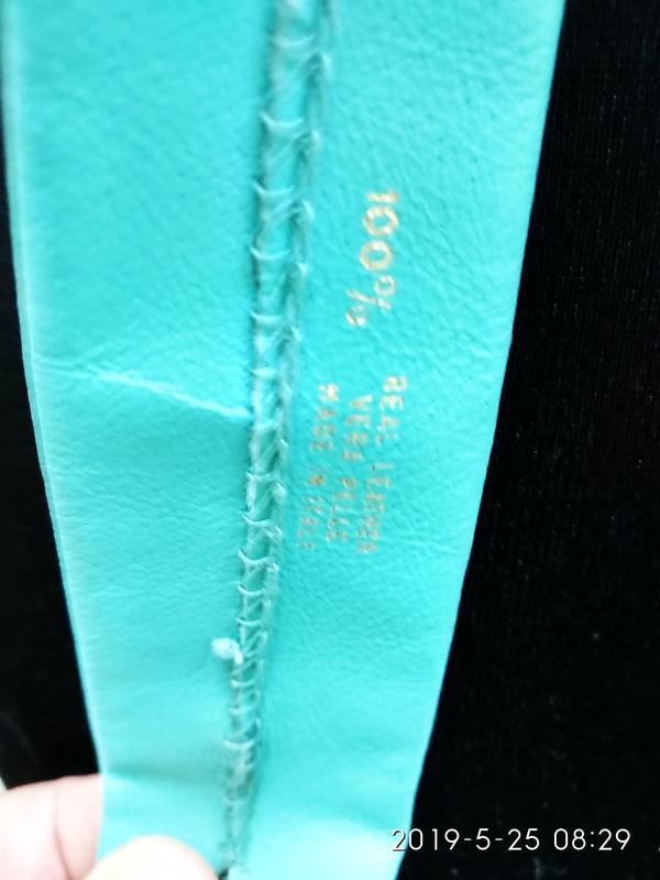 Vera pelle бирюзовый галстук кожа - Фото 3