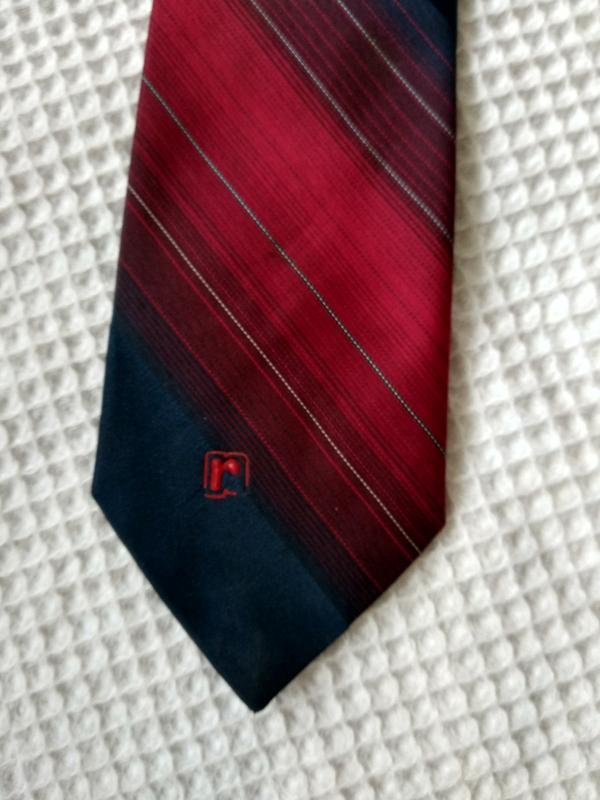 Paco rabanne галстук в сине красных тонах - Фото 5