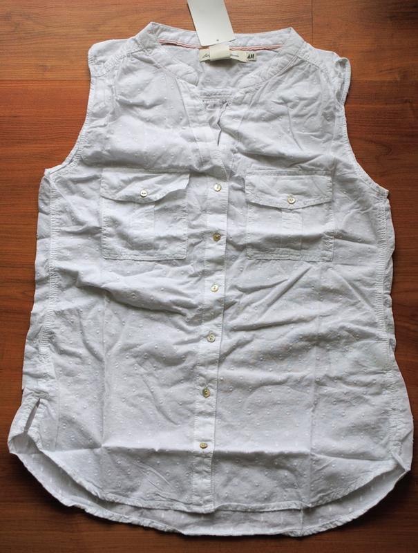 Блуза h&m белая  36 - Фото 3