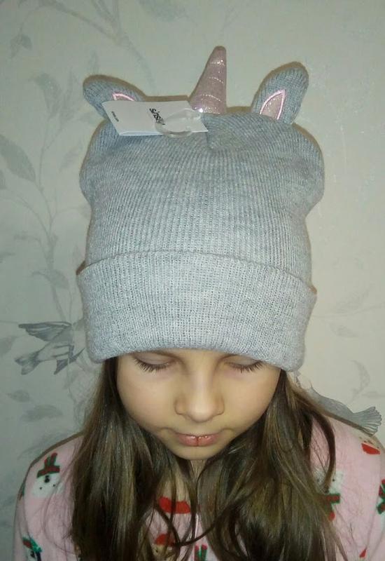 Прикольная шапка единорожка девочке от sinsay - Фото 3