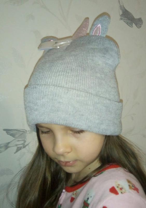 Прикольная шапка единорожка девочке от sinsay - Фото 4
