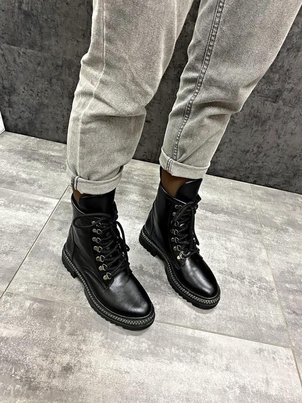 Натуральные кожаные замшевые демисезонные женские ботинки на ш... - Фото 4