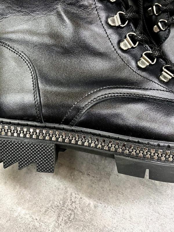 Натуральные кожаные замшевые демисезонные женские ботинки на ш... - Фото 7